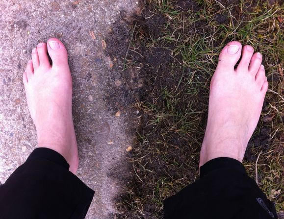 gevoelstemperatuur gras en beton