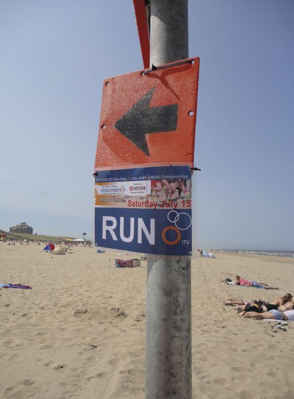 wegwijzer strand