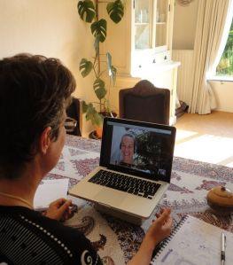 skypen met Diana, website bouwen 2